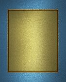 picture of nameplates  - Beautiful gold background with a blue ribbon on the edges  - JPG