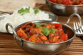 picture of paneer  - indian dish of paneer and pepper curry - JPG