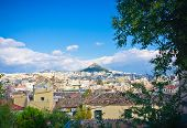 stock photo of akropolis  - Beautiful view of city of Athens - JPG
