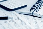 image of accounting  - Close up of fnancial balance and accounting - JPG