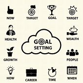 pic of goal setting  - Smart goal setting concept - JPG