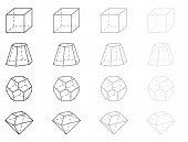 stock photo of octahedron  - 3d vector geometry figures - JPG