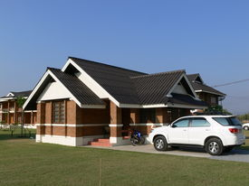 image of unicity  - new brick technology and building with great design and structure - JPG