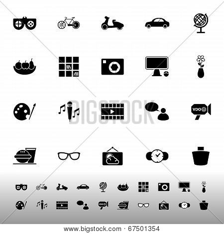Favorite And Like Icons On White Background