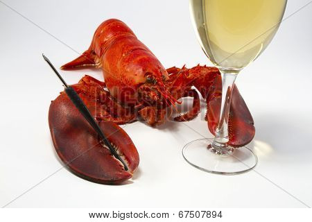 Lobster with Wine