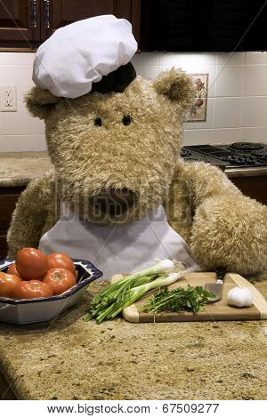 Chef Bear Chopping