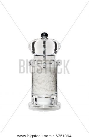 Transparent Perspex Pepper Mill Isolated On White