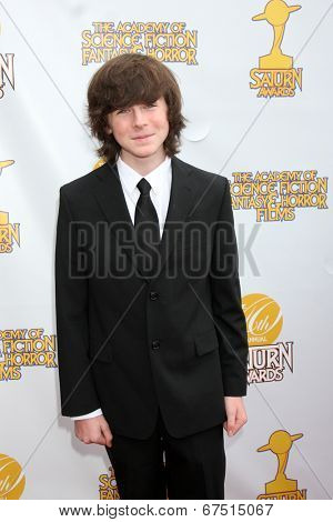 LOS ANGELES - JUN 26:  Chandler Riggs at the 40th Saturn Awards at the The Castaways on June 26, 2014 in Burbank, CA