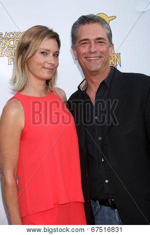 LOS ANGELES - JUN 26:  Kristina Klebe, Malek Akkad at the 40th Saturn Awards at the The Castaways on June 26, 2014 in Burbank, CA
