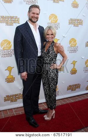 LOS ANGELES - JUN 26:  Brian Fuller, Kristin Chenoweth at the 40th Saturn Awards at the The Castaways on June 26, 2014 in Burbank, CA