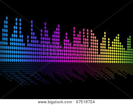 Digital Music Beats Background Shows Music Soundtrack Or Sound Pulse.