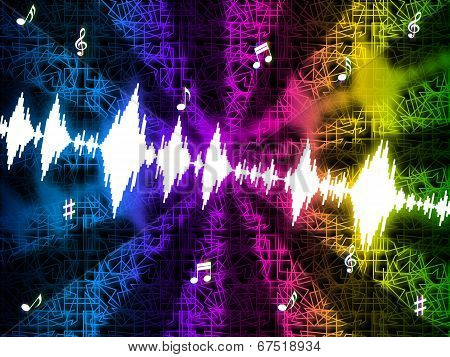 Soundwaves Background Mean Making And Playing Music.