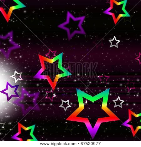 Stars Space Background Shows Heavenly Bodies And Brightness.