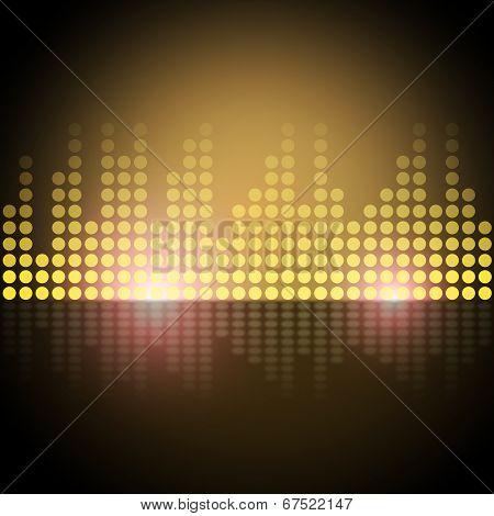 Music Equalizer Background Shows Frequency Meter Or Sound Analyzer.