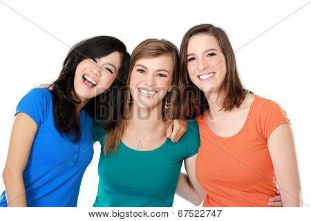 Multi Racial Three Girls Best Friend