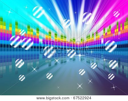 Colorful Soundwaves Backround Means Music Sparkles And Party .