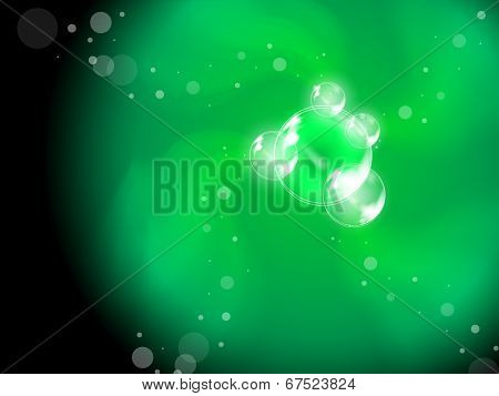 Abstract Bubbles Background Shows Soapy Creativity Or Joyfulness.