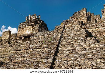 Tonina Maya Ruins In Mexico