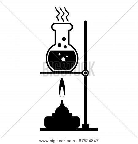 Laboratory Burner And Flask