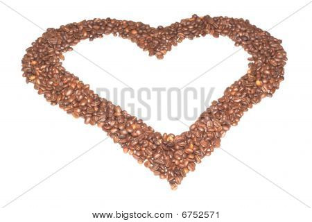 Heart From Coffee Beans.