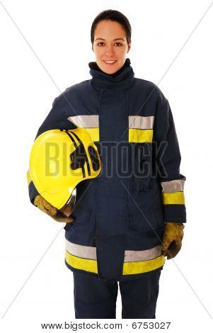 Female firefighter