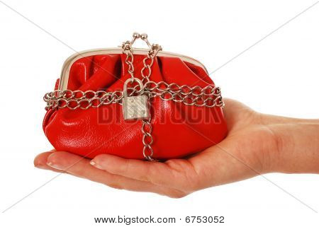 Locked purse