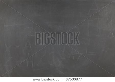 Wiped Chalkboard