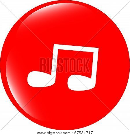 Note Full, Music Web Icon (button)