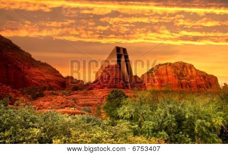 Evening sky in Sedona,Arizona