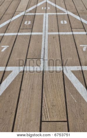 Shuffle Board On A Cruise Ship