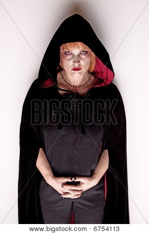 Female Vampire In A Dark Hood