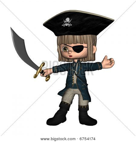 Cute Toon Pirate - male