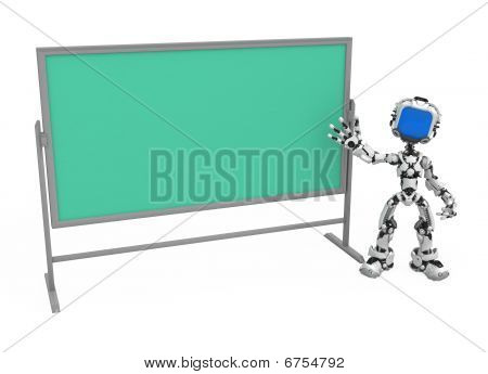 Blue Screen Robot, Blackboard