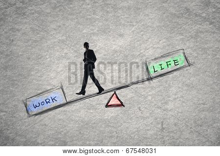 Balance concept about work and life.