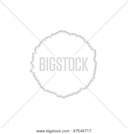 Abstract round ragged edge. Vector background