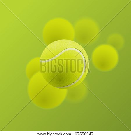 Tennis balls, eps10 vector