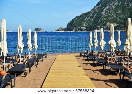 Beach in Marmaris bay, Turkey