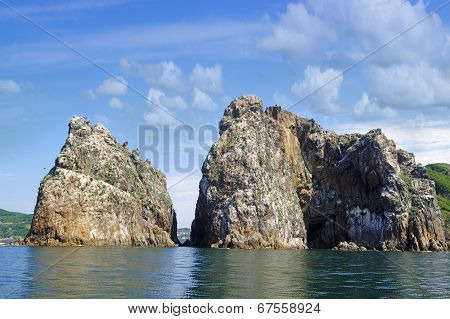 Rocks , Sea And Blue Sky