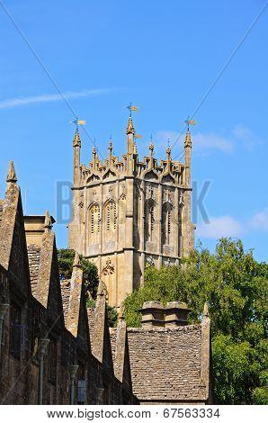 St James church tower, Chipping Campden.