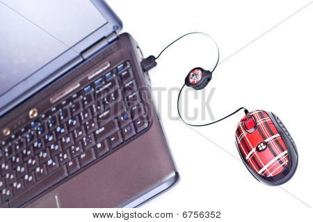 Notebook And Mouse