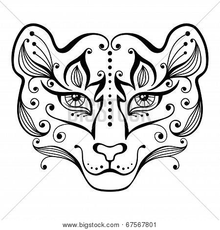 Tiger tattoo.