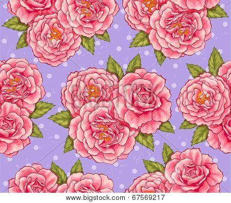 Pink roses seamless
