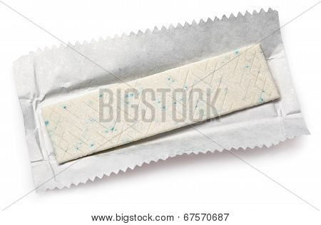 Chewing Gum Plate On Wrapping Paper