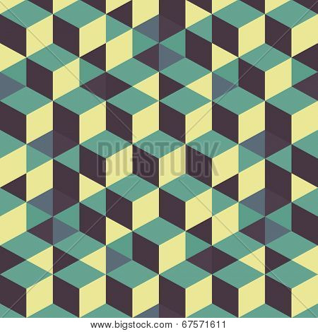 Abstract 3d background - wall of cubes. Vector illustration.