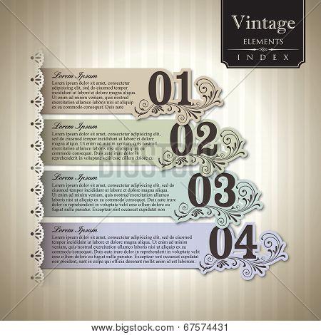 Vintage Style Bar Graph