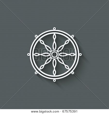 dharma wheel design element