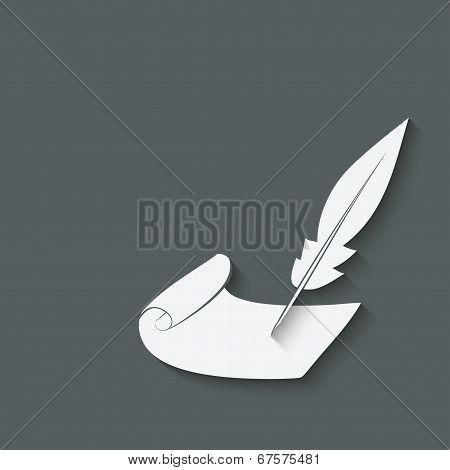 inkwell pen design element