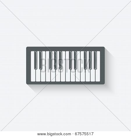 piano music design element