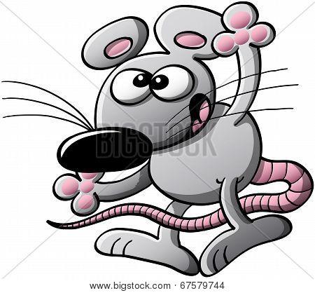 Nice mouse waving hello