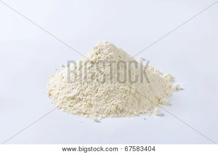 pile of pure soft wheat flour